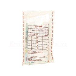 Biztonsági zacskó, bankjegyköteg méretű