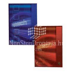 Ragasztott füzet A/4 100lap kockás HIGHTECH/COLLEGE