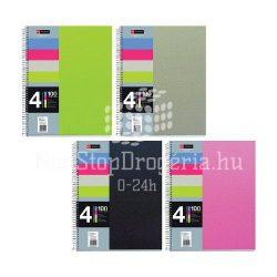 Spirálfüzet A/5 vonalas MQ 4 Notebook 4x25 lapos PP 49774-75-76-77