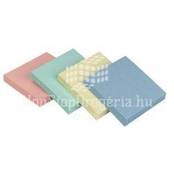 Öntap. jegyzettömb 76x76mm rainbow p. 4x3x100lap Q-Connect KF10509