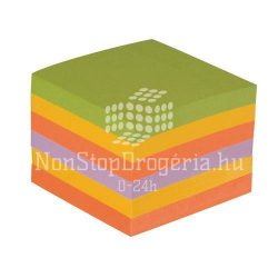 Öntap. jegyzettömb 76x76mm rainbow ultra 6x75lap Q-Connect KF02515