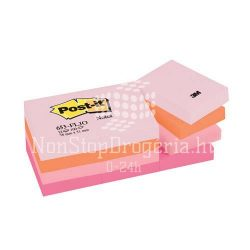 Post-it 653FLJO/653FL 38x51mm 100lap 12tömb p.pink 653P