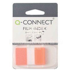 Öntap. oldaljelölő  25x43mm 50 címke Q-Connect narancssárga