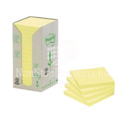 Post-it 654-1T 76x76mm 16x100lap/csm GreenLine sárga