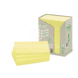 Post-it 655 1T 76x127mm 16x100lap/csm GreenLine sárga