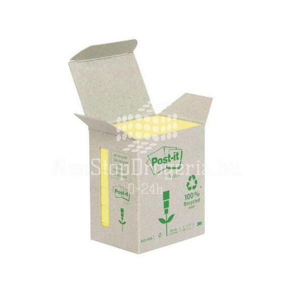 Post-it 653-1B 51x38mm 6x100lap/csm GreenLine sárga