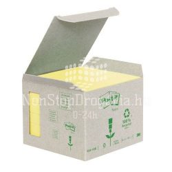 Post-it 654-1B 76x76mm 6x100lap/csm GreenLine sárga