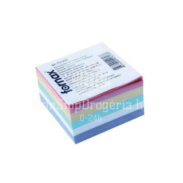 Kockatömb 9x9x5cm élénk design színek