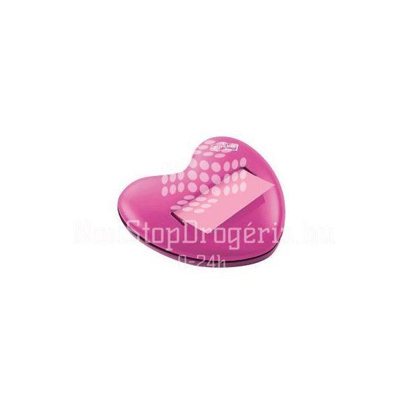 Post-it HD-330  Z-adagoló Szív alakú asztali  76 x 76 mm, 100 lap, pink színű jegyzettömbbel