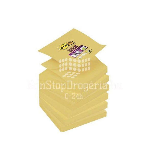 Post-it Super Sticky Z-jegyzettömb 75×76mm R330-12SS-CY  90 lap kanárisárga