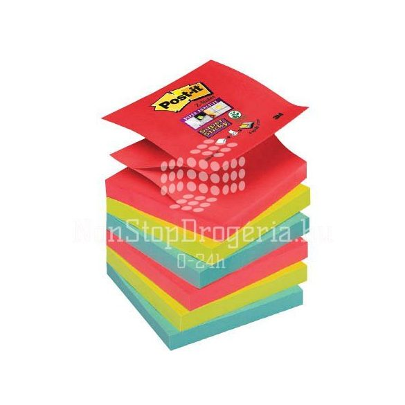 Post-it Super Sticky Z-szivárványcsomag76 × 76 mm,R330-6SS-JP 90 lap, 6 tömb