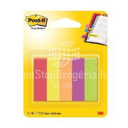 Post-it Jelölőlapok12,7 x 44,4mm, 5 x 50 lap  (neon színek) 670-5JA-EU