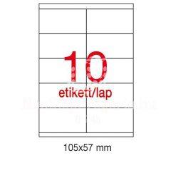 Etikett A10564 57x105mm 500ív Apli