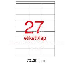 Etikett A1271 30x70mm 100ív LCA3133 Apli