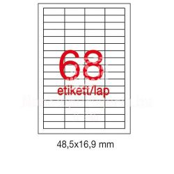 Etikett A1282 48,5x16,9mm 100ív LCA3128 Apli