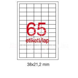 Etikett A3127 21,2x38mm 100ív LCA3127 Apli