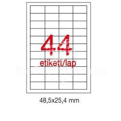 Etikett A1285 25,4x48,5mm 100ív LCA3129 Apli