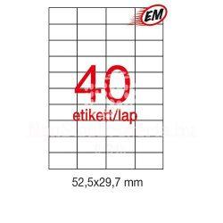 Etikett A1286 29,7x52,5mm 100ív LCA3130 Apli