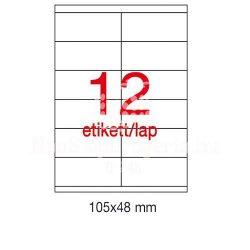 Etikett A1289 48x105mm 100ív LCA3139 Apli