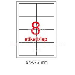 Etikett A1291 67,7x97mm 100ív LCA1291 Apli