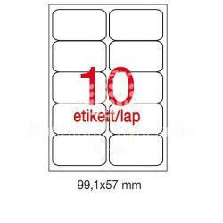 Etikett A2411 99,1x57mm 100ív kerekített sarkú Apl