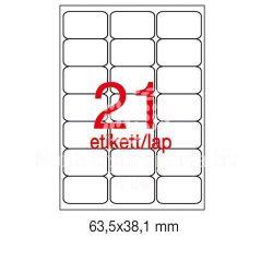 Etikett A2414 63,5x38,1mm 100ív kerekített sarkú A