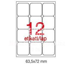 Etikett A2416 63,5x72mm 100ív kerekített sarkú Ap