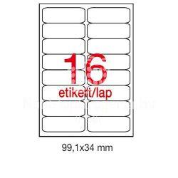 Etikett A2418 99,1x34,2mm 100ív kerekített sarkú A