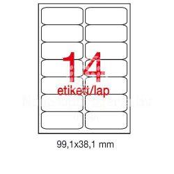 Etikett A2419 99,1x38,1mm 100ív kerekített sarkú A