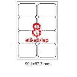 Etikett A2420 99,1x67,7mm 100ív kerekített sarkú A
