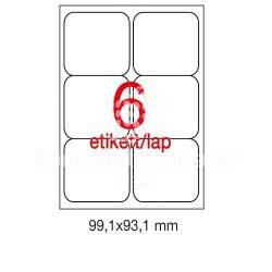 Etikett A2421 99,1x93,1mm 100ív kerekített sarkú A