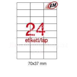 Etikett LCA10818/1212 70x37mm 25ív Apli