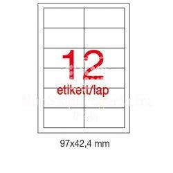 Etikett LCA1213 97x42,4mm 25ív Apli