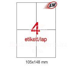 Etikett LCA10827 105x148mm 25ív Apli