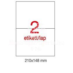 Etikett LCA10919 210x148mm 25ív Apli