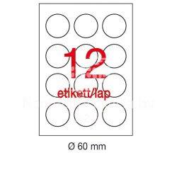 Etikett LCA1244 60mm átm. 100ív Apli