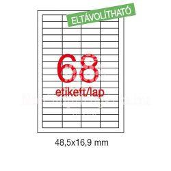 Etikett LCA03053 48,5 x 16,9 mm eltávolítható 6800db/csom Apli