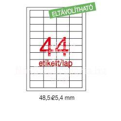 Etikett LCA03054 48,5 x 25,4 mm eltávolítható 4400db/csom Apli