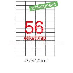Etikett LCA03055 52,5 x 21,2 mm eltávolítható 5600db/csom Apli