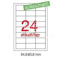 Etikett LCA03056 64,6 x 33,8 mm eltávolítható 2400db/csom Apli