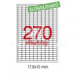 Etikett LCA10197 17,8x10 mm eltávolítható kerekített sarkú 6750db/csom Apli