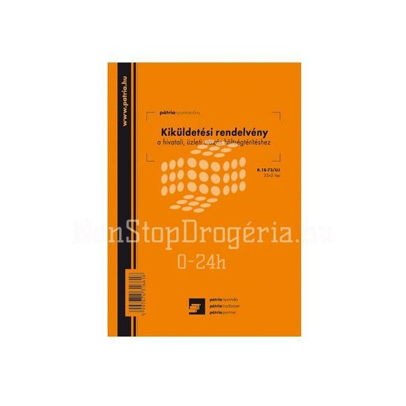 Belföldi kiküldetési rendelvény és költségelszámolás 25x2 lapos tömb A/4 fekvőB.18-70/ÚJ/V