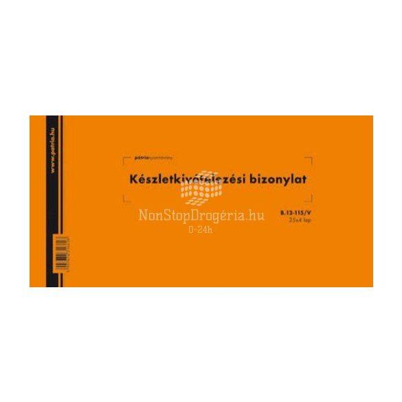 Készlet kiv. biz. 25x4lap B.12-115/V Pátria