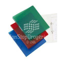 Gyűrűskönyv A/4 4gyűrűs 20mm áttetsző Q-Connect piros