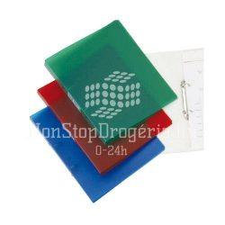 Gyűrűskönyv A/4 2gyűrűs 20mm áttetsző Q-Connect piros