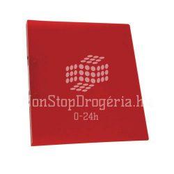 Gyűrűskönyv A/4 2gyűrűvel 20mm Standard PP Q-Connect piros