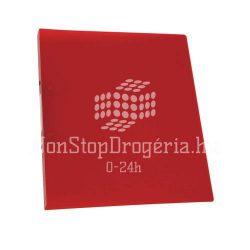 Gyűrűskönyv A/4 4gyűrűs 20mm Standard PP Q-Connect piros