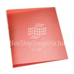 Gyűrűskönyv A/4 2gyűrűs 25mm áttetsző Q-Connect piros