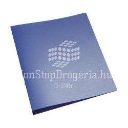 Gyűrűskönyv A/4 4gyűrűs 25mm áttetsző Q-Connect kék