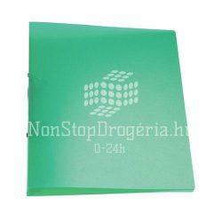 Gyűrűskönyv A/4 4gyűrűs 25mm áttetsző Q-Connect zöld